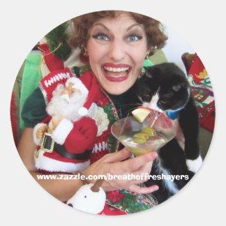 Edna Christmas Stickers! Classic Round Sticker