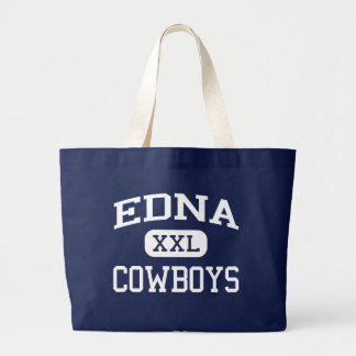 Edna - Cowboys - Edna High School - Edna Texas Large Tote Bag