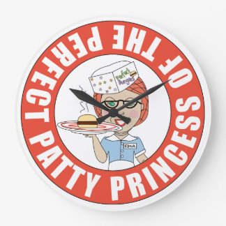 Edna - Princess of the Perfect Patty Large Clock