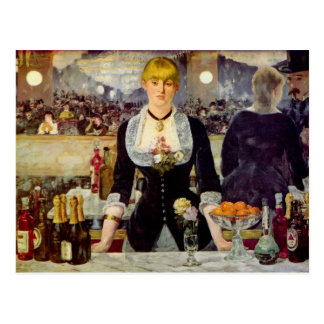 Edouard Manet - A Bar at the Folies-Bergere Card