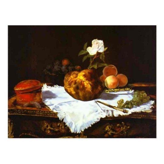 Edouard Manet- A brioche Postcard