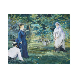 Edouard Manet - A Game of Croquet Canvas Print