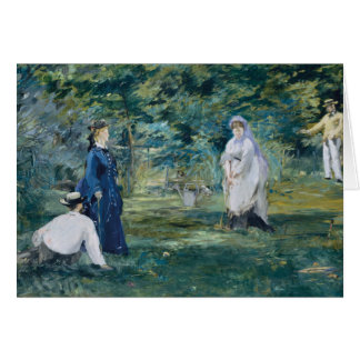 Edouard Manet - A Game of Croquet Card