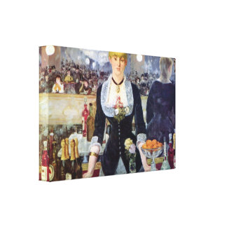 Edouard Manet - Bar in the Folies-Bergere Canvas Print