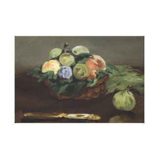 Edouard Manet - Basket of Fruit Canvas Print