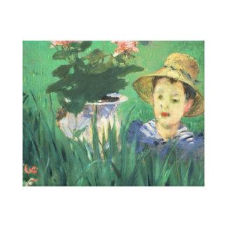 Édouard Manet - Boy in Flowers Canvas Print