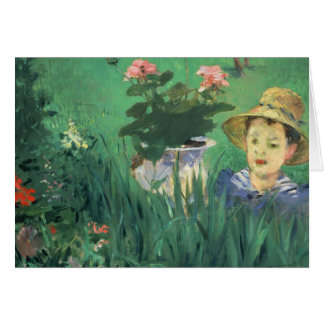Édouard Manet - Boy in Flowers Card