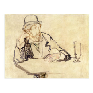 Edouard Manet - George Moore at the Cafe Postcard