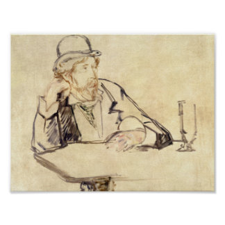 Edouard Manet - George Moore at the Cafe Poster