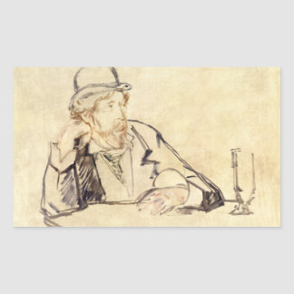 Edouard Manet - George Moore at the Cafe Sticker