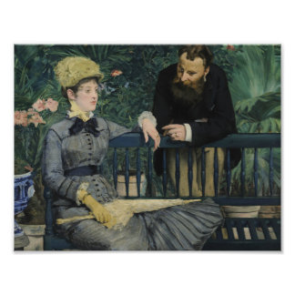 Edouard Manet - In the Conservatory Art Photo