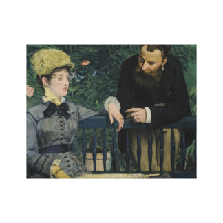 Edouard Manet - In the Conservatory Canvas Print