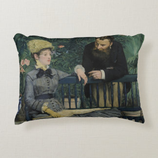 Edouard Manet - In the Conservatory Decorative Pillow