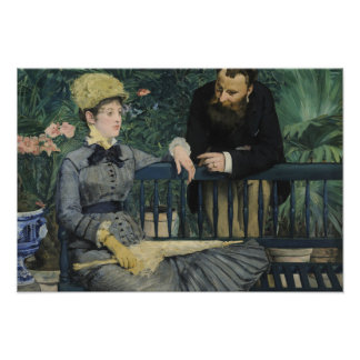 Edouard Manet - In the Conservatory Photograph