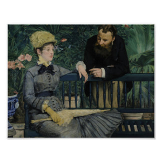 Edouard Manet - In the Conservatory Poster