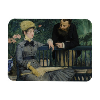 Edouard Manet - In the Conservatory Rectangular Photo Magnet