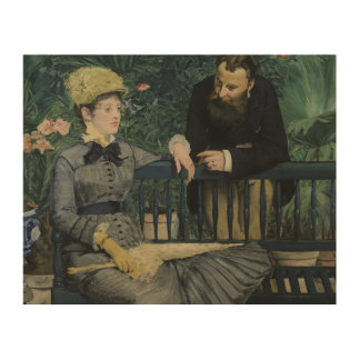 Edouard Manet - In the Conservatory Wood Canvas