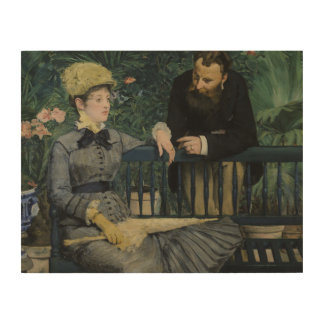 Edouard Manet - In the Conservatory Wood Print