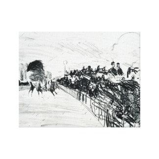 Edouard Manet - Les Courses Canvas Print