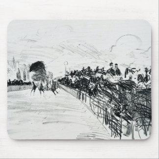 Edouard Manet - Les Courses Mouse Pad
