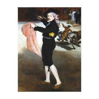 Édouard Manet  Mademoiselle V Costume of Espada Canvas Print