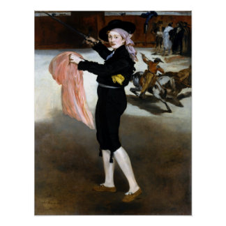 Édouard Manet  Mademoiselle V Costume of Espada Poster