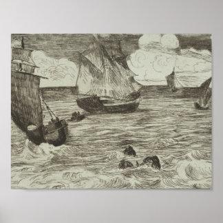 Edouard Manet - Marine Poster