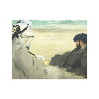 Edouard Manet - On the Beach Canvas Print