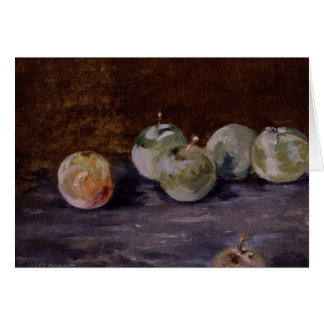 Edouard Manet - Plums Card