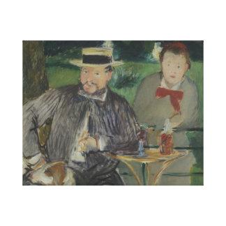 Edouard Manet - Portrait of Ernest Hoschedé Canvas Print