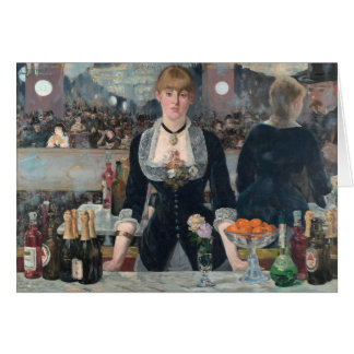 Edouard Manet ' s A Bar at the Folies-Bergère Card