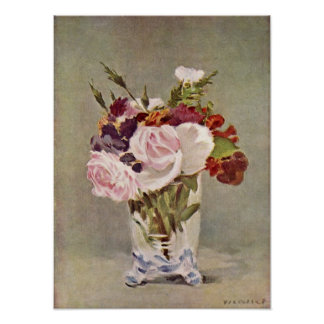 edouard Manet - Still Life with Flowers Posters