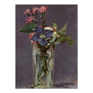 edouard Manet - Still Life with Flowers Poster