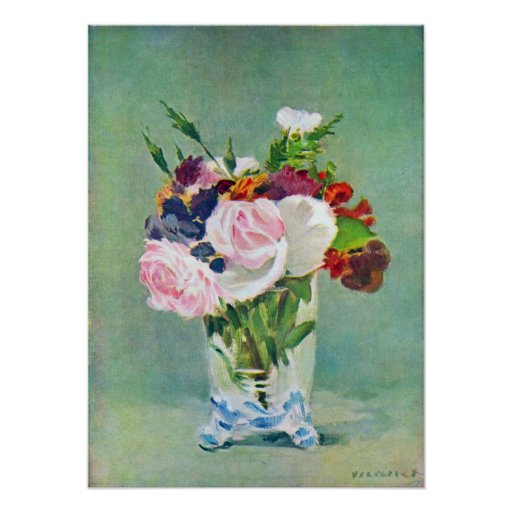 Edouard Manet - Still Life with Flowers Print