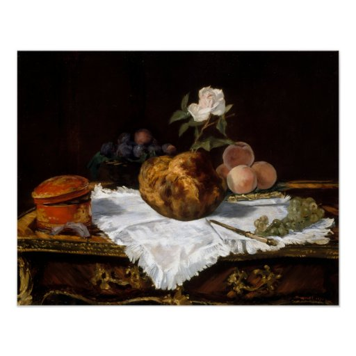 Édouard Manet The Brioche Poster
