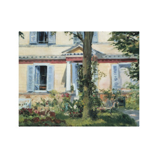 Edouard Manet - The House at Rueil Canvas Print