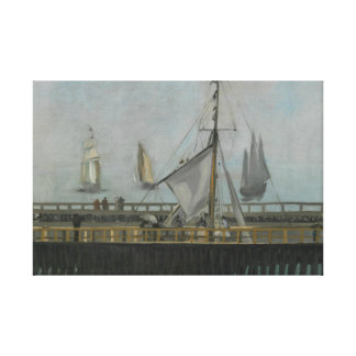 Edouard Manet - The Jetty of Boulogne-sur-Mer Canvas Print