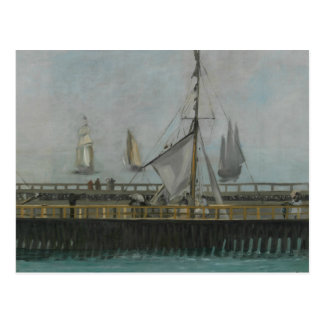 Edouard Manet - The Jetty of Boulogne-sur-Mer Postcard