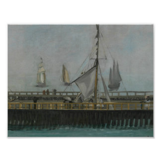 Edouard Manet - The Jetty of Boulogne-sur-Mer Poster
