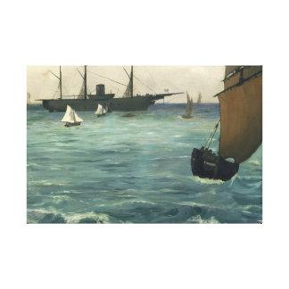 Edouard Manet - The Kearsarge at Boulogne Canvas Print