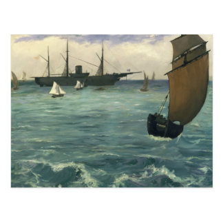 Edouard Manet - The Kearsarge at Boulogne Postcard