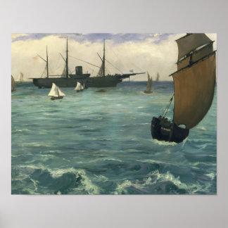Edouard Manet - The Kearsarge at Boulogne Poster