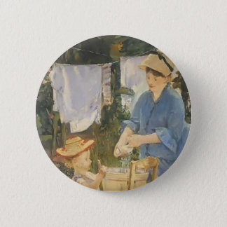 Edouard Manet- The laundry 2 Inch Round Button
