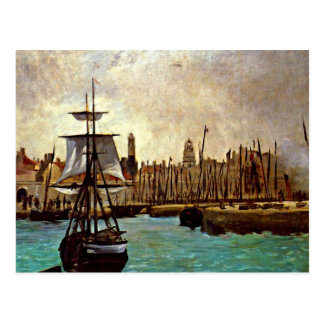 Edouard Manet - The Port of Bordeaux Postcard