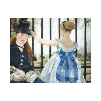 Edouard Manet - The Railway Canvas Print