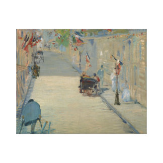 Edouard Manet - The Rue Mosnier with Flags Canvas Print