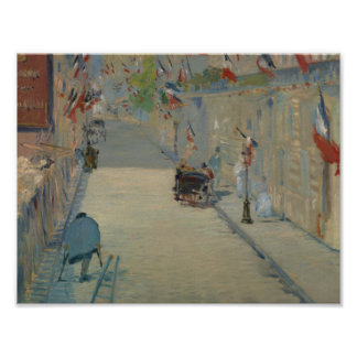 Edouard Manet - The Rue Mosnier with Flags Poster