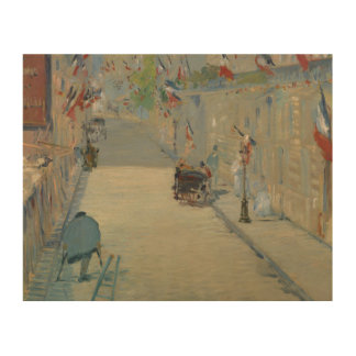 Edouard Manet - The Rue Mosnier with Flags Wood Prints