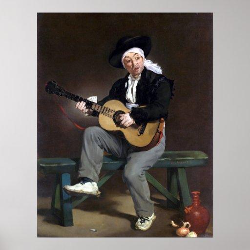 Édouard Manet The Spanish Singer Poster