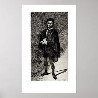 Édouard Manet The Tragic Actor Rouvière as Hamlet Poster